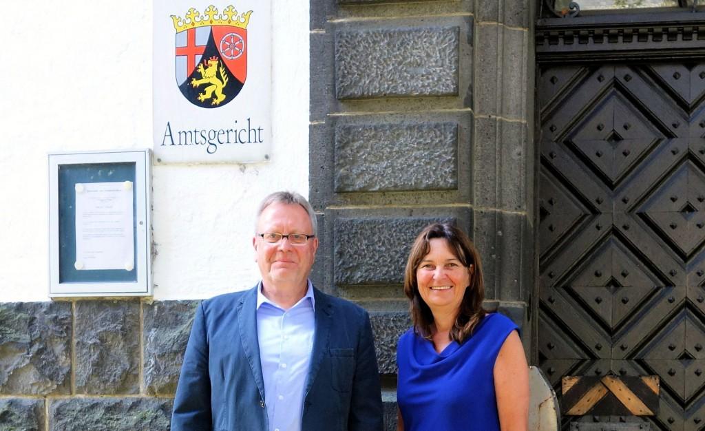 Mechthild Heil MdB (CDU) mit dem Direktor des Mayener Amtsgerichts Bernd Schmickler.