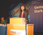 Mechthild Heil bei Ihrer Nominierungsrede.